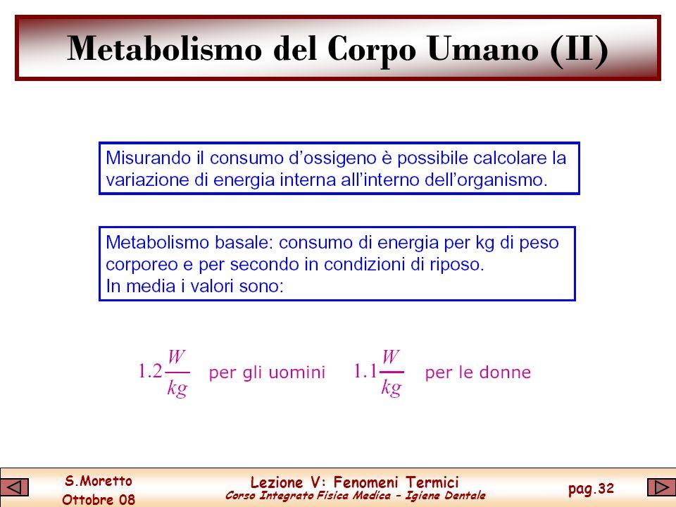 Metabolismo del Corpo Umano (II)