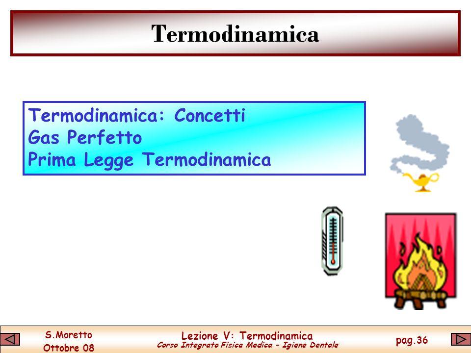 Termodinamica Termodinamica: Concetti Gas Perfetto