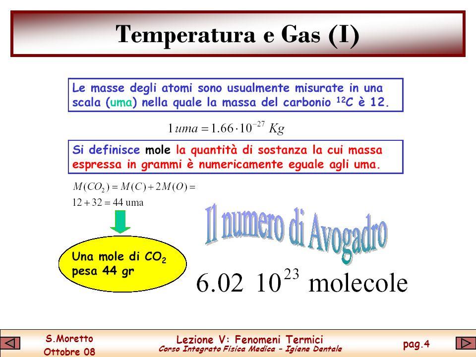 Temperatura e Gas (I)