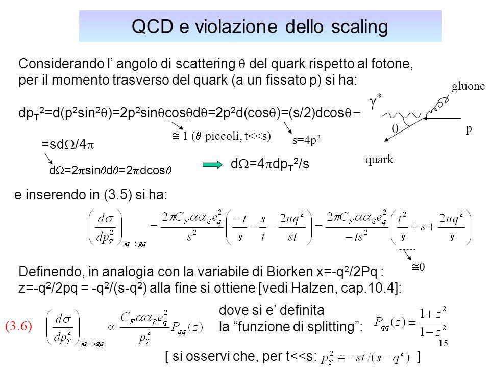 QCD e violazione dello scaling