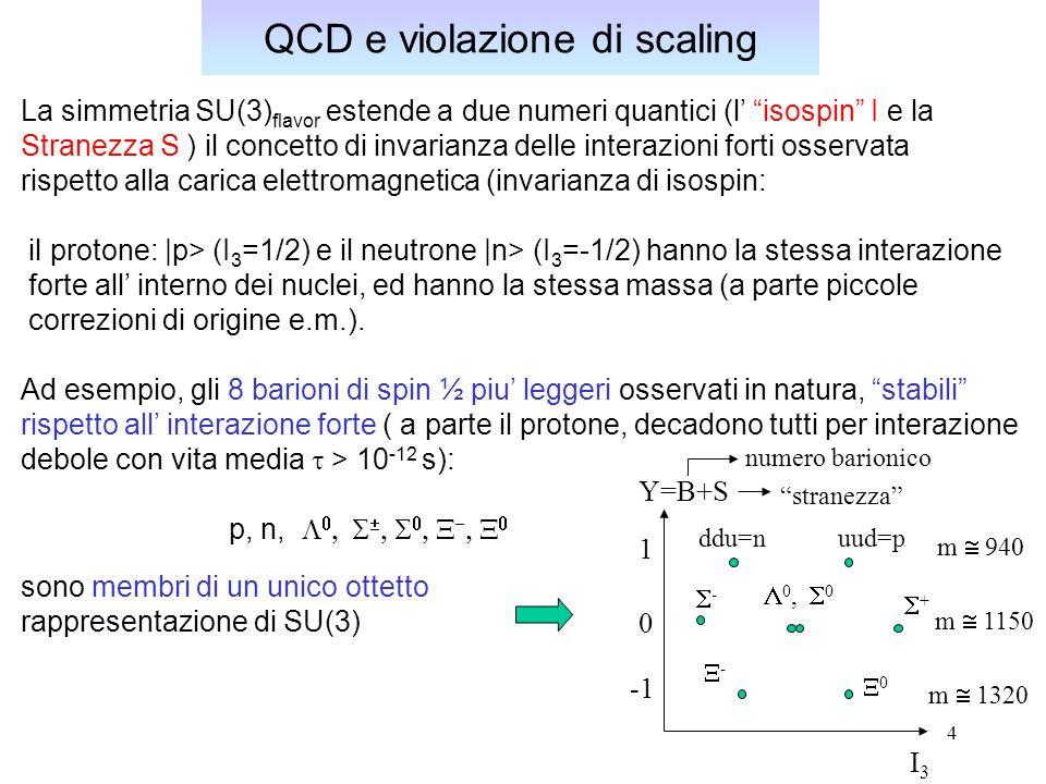 QCD e violazione di scaling