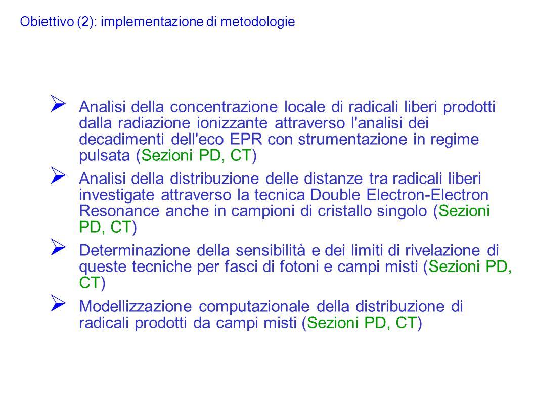 Obiettivo (2): implementazione di metodologie