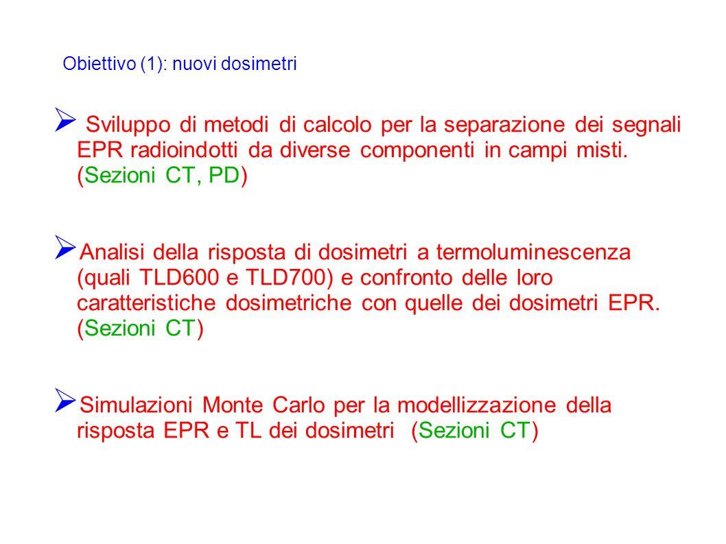 Obiettivo (1): nuovi dosimetri
