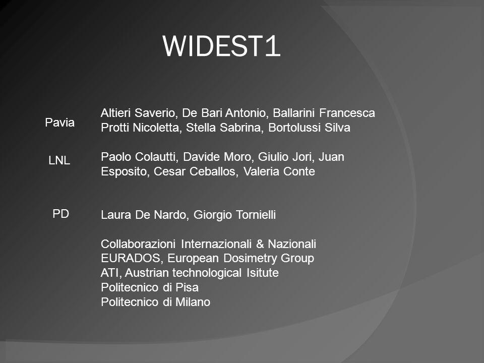 WIDEST1 Altieri Saverio, De Bari Antonio, Ballarini Francesca Protti Nicoletta, Stella Sabrina, Bortolussi Silva.