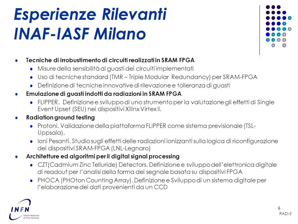 Esperienze Rilevanti INAF-IASF Milano