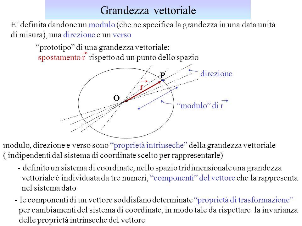 Grandezza vettoriale r