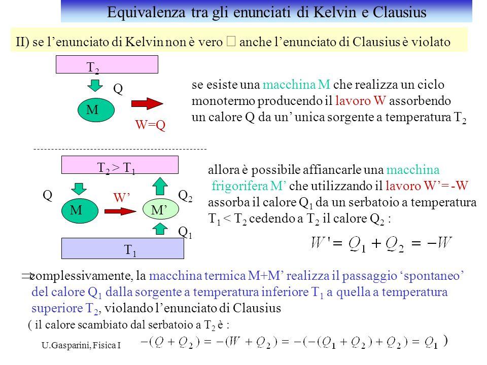 Equivalenza tra gli enunciati di Kelvin e Clausius