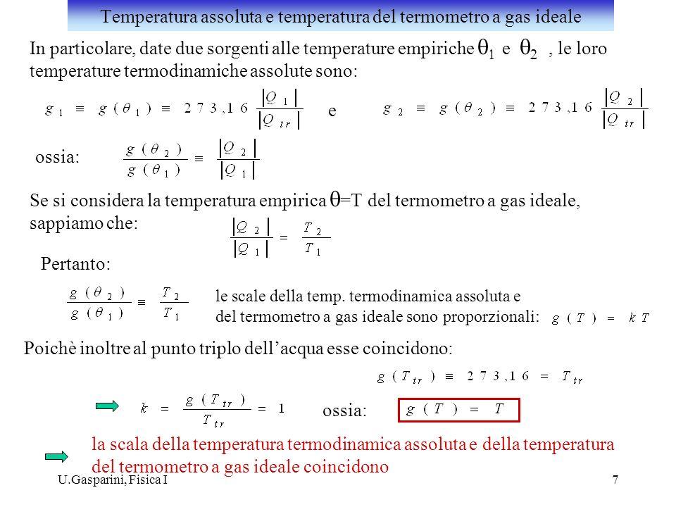 Temperatura assoluta e temperatura del termometro a gas ideale