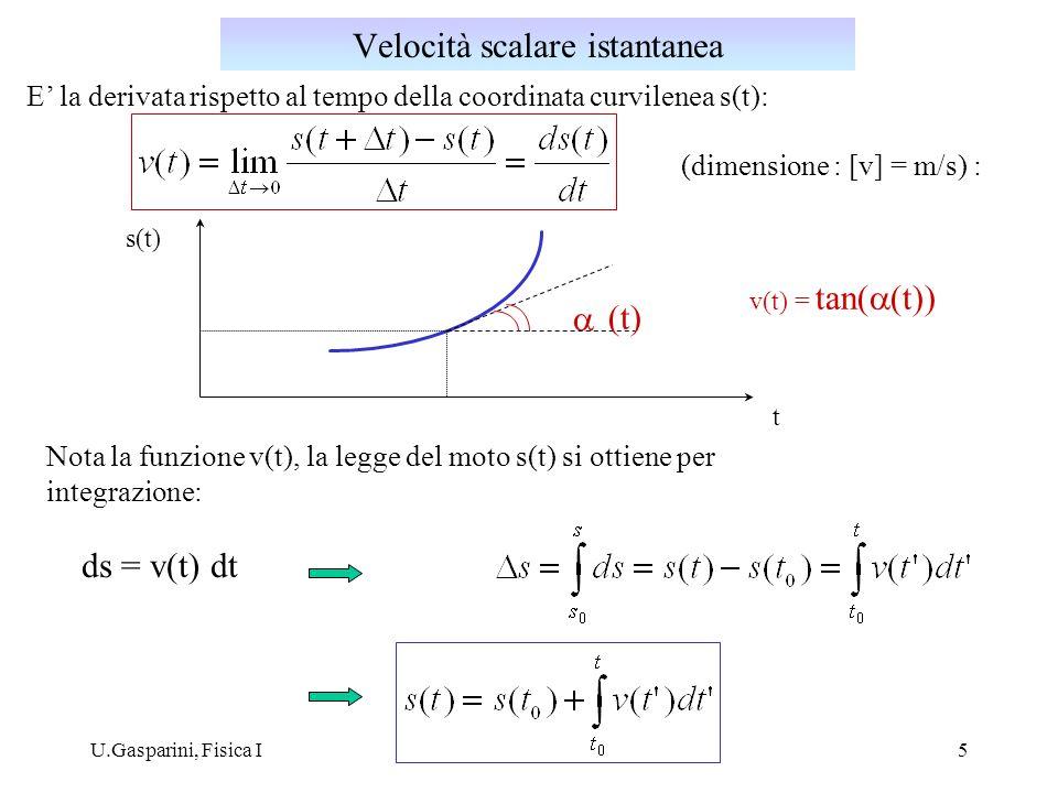 Velocità scalare istantanea