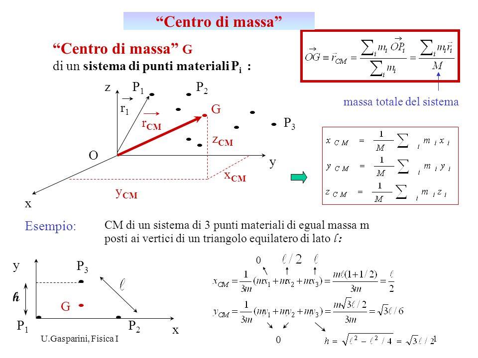 Centro di massa Centro di massa G