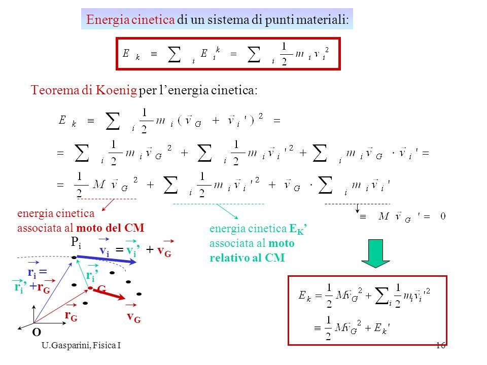 Teorema di Koenig per l'energia cinetica: