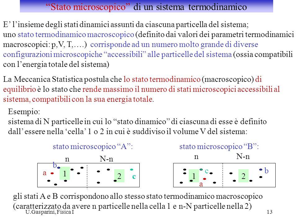 Stato microscopico di un sistema termodinamico