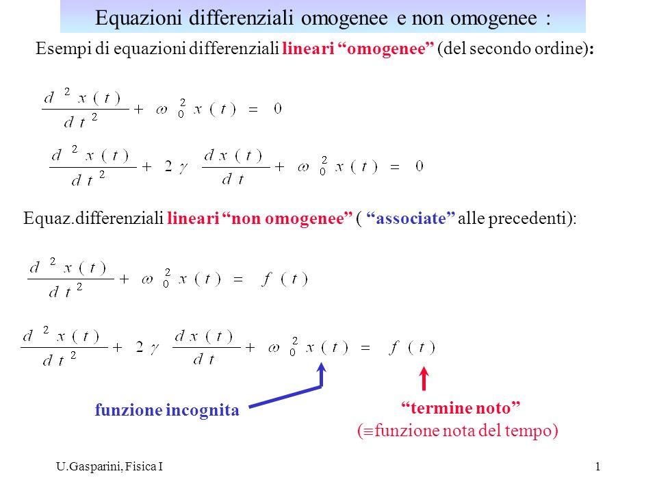 Equazioni differenziali omogenee e non omogenee :