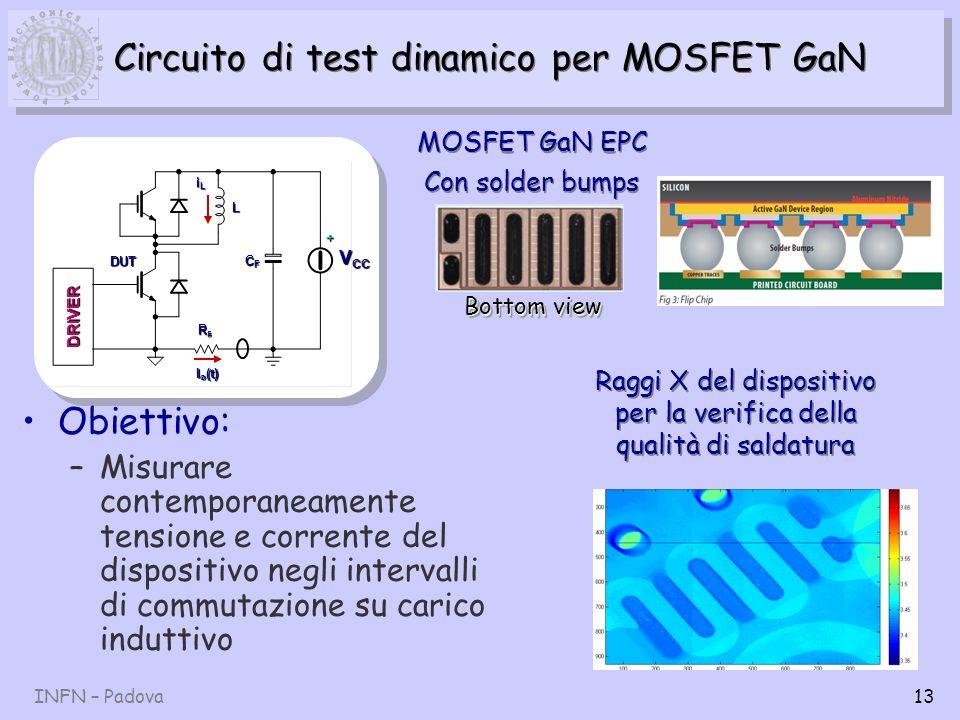 Circuito di test dinamico per MOSFET GaN