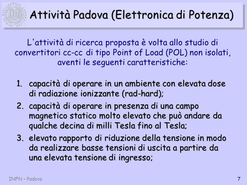 Attività Padova (Elettronica di Potenza)