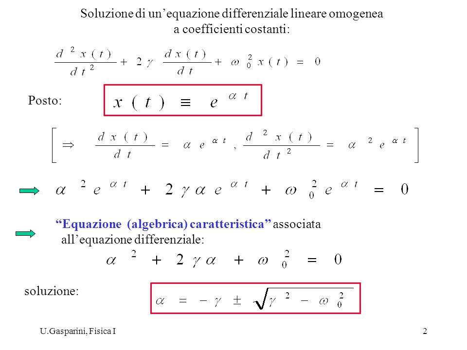 Equazione (algebrica) caratteristica associata