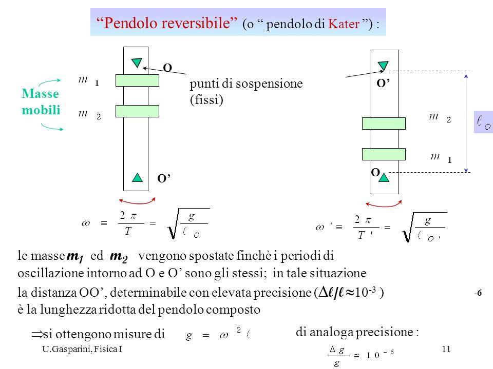 Pendolo reversibile (o pendolo di Kater ) :
