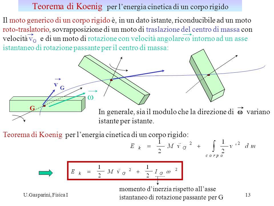 Teorema di Koenig per l'energia cinetica di un corpo rigido