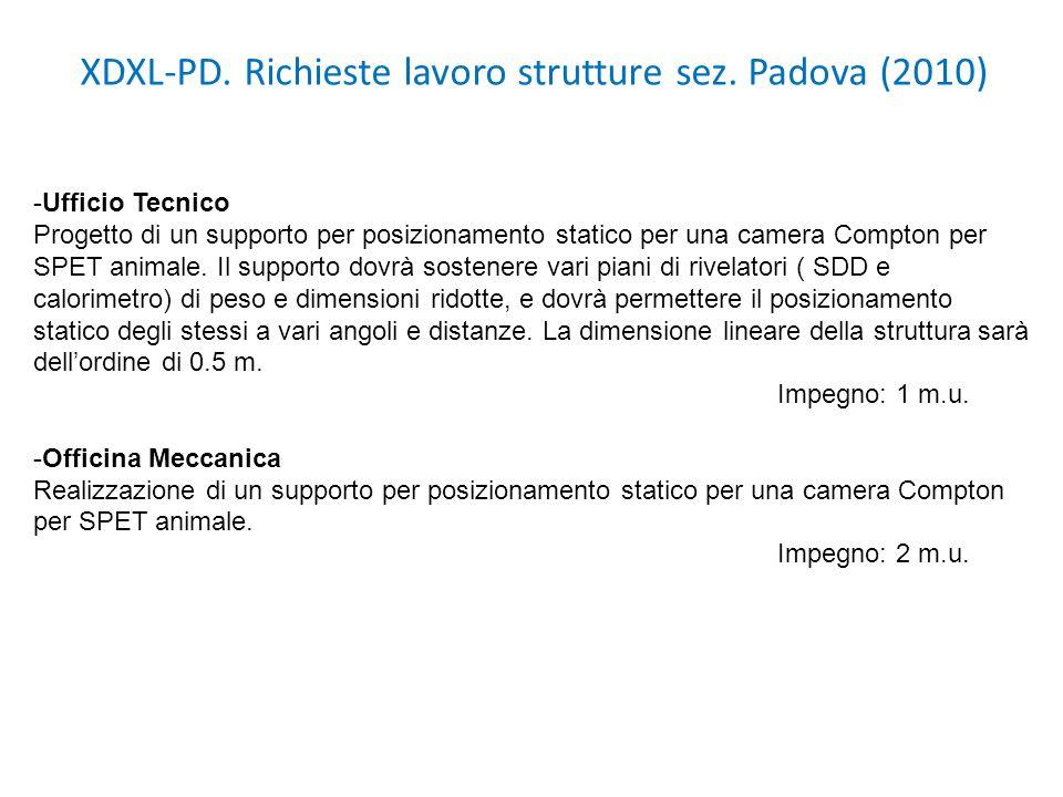 XDXL-PD. Richieste lavoro strutture sez. Padova (2010)