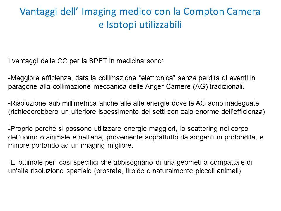 Vantaggi dell' Imaging medico con la Compton Camera e Isotopi utilizzabili
