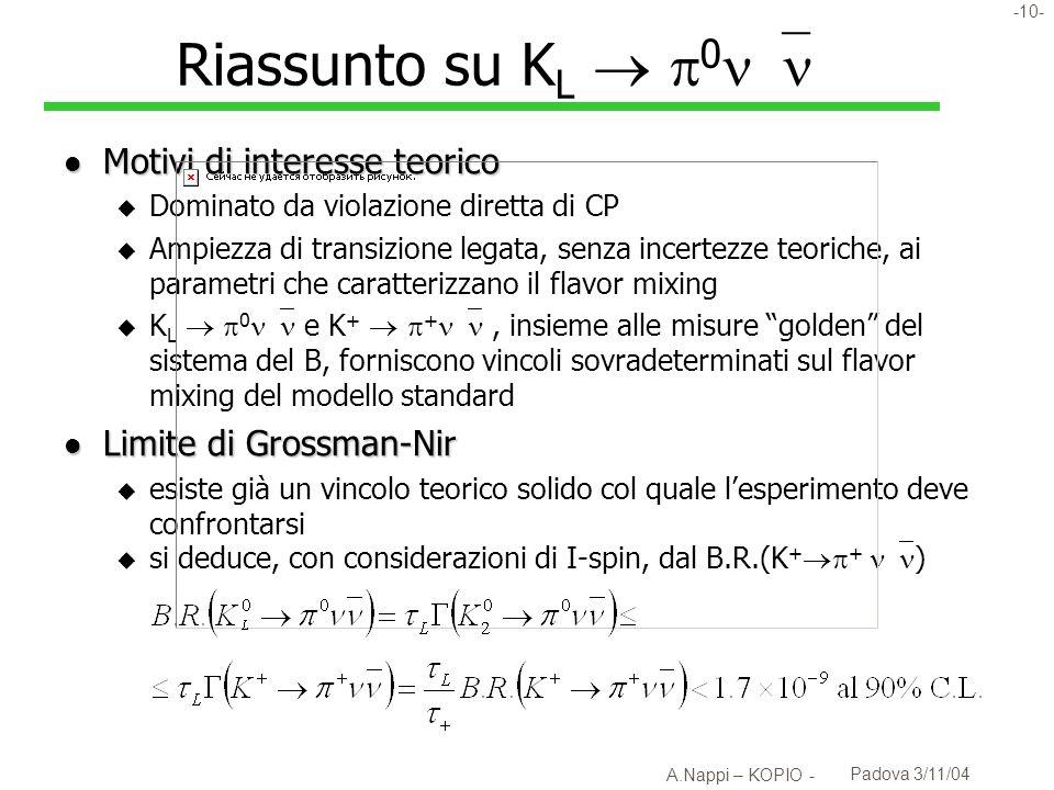 Riassunto su KL  0 Motivi di interesse teorico
