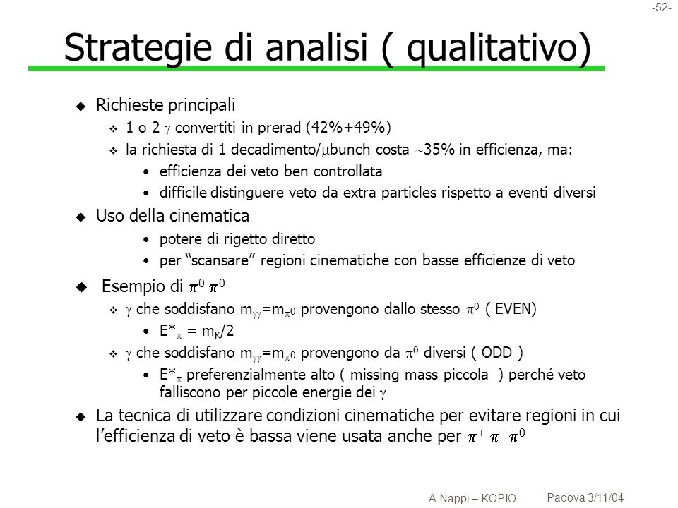 Strategie di analisi ( qualitativo)