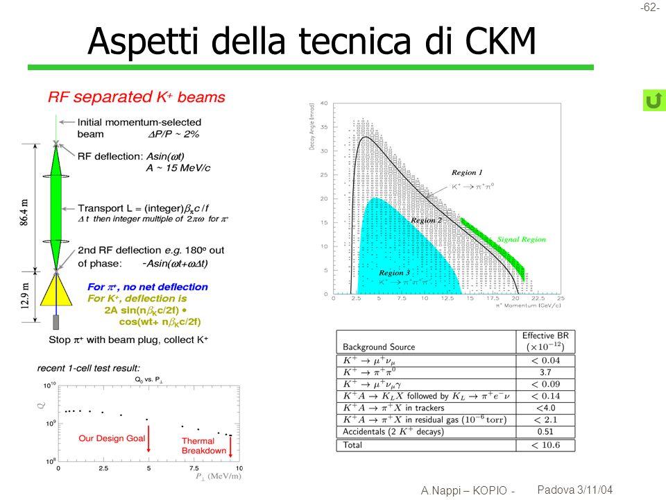 Aspetti della tecnica di CKM