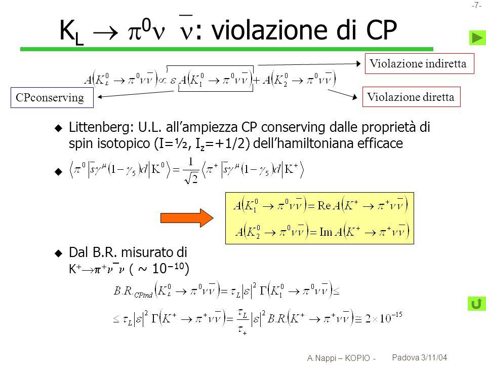 KL  0: violazione di CP