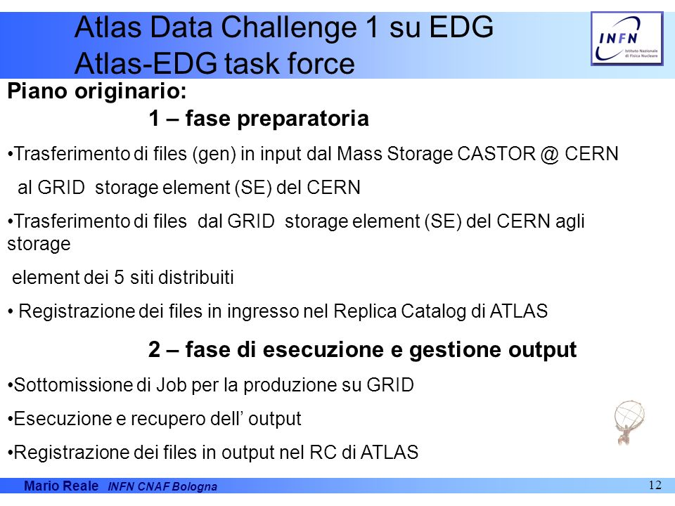 Atlas Data Challenge 1 su EDG Atlas-EDG task force