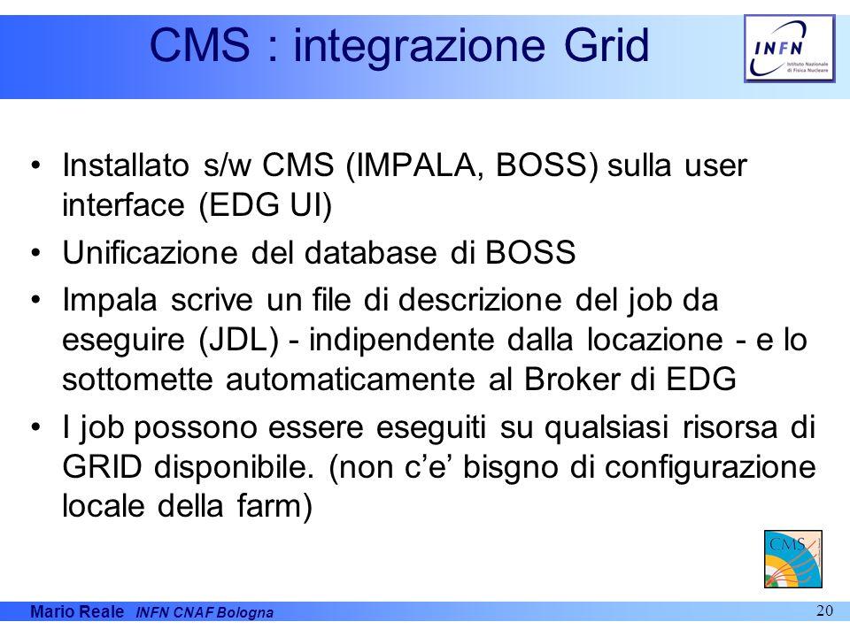 CMS : integrazione Grid
