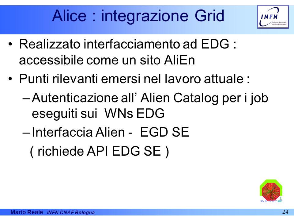Alice : integrazione Grid