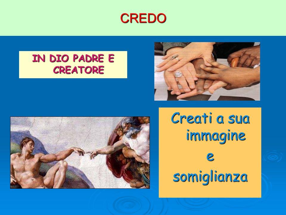 CREDO IN DIO PADRE E CREATORE Creati a sua immagine e somiglianza