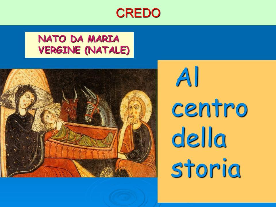 CREDO NATO DA MARIA VERGINE (NATALE) Al centro della storia