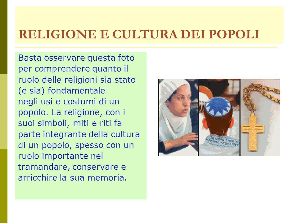 RELIGIONE E CULTURA DEI POPOLI
