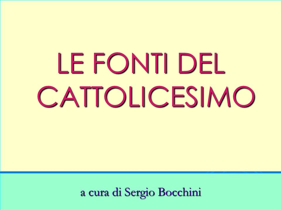 a cura di Sergio Bocchini