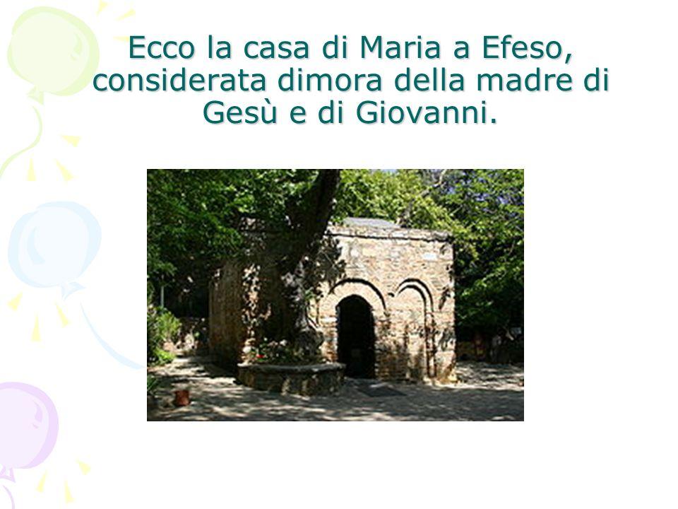 Ecco la casa di Maria a Efeso, considerata dimora della madre di Gesù e di Giovanni.