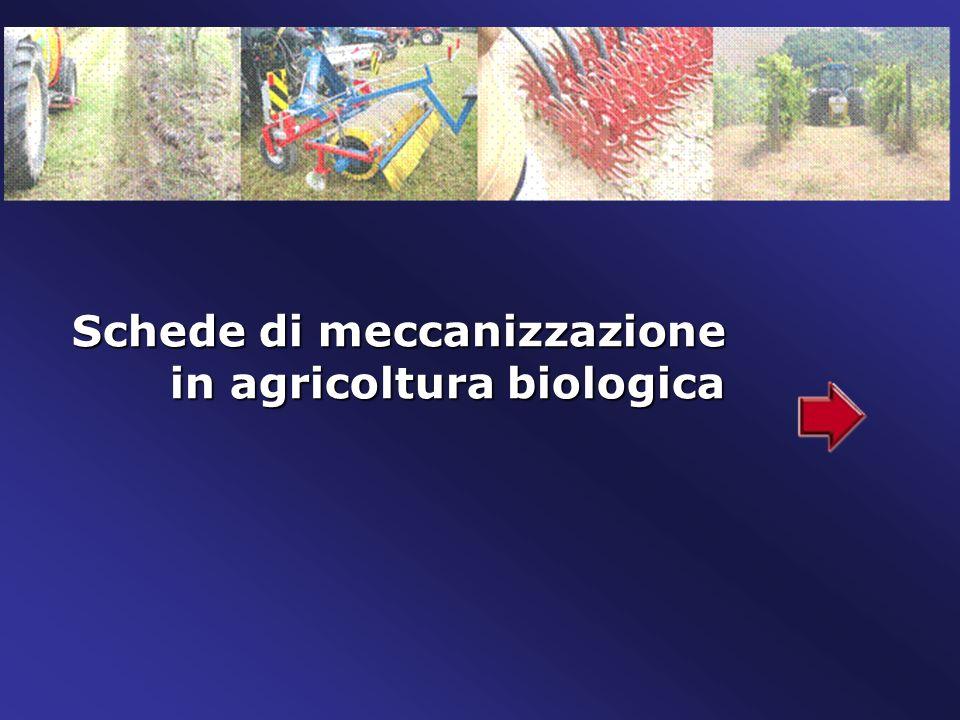 Schede di meccanizzazione in agricoltura biologica