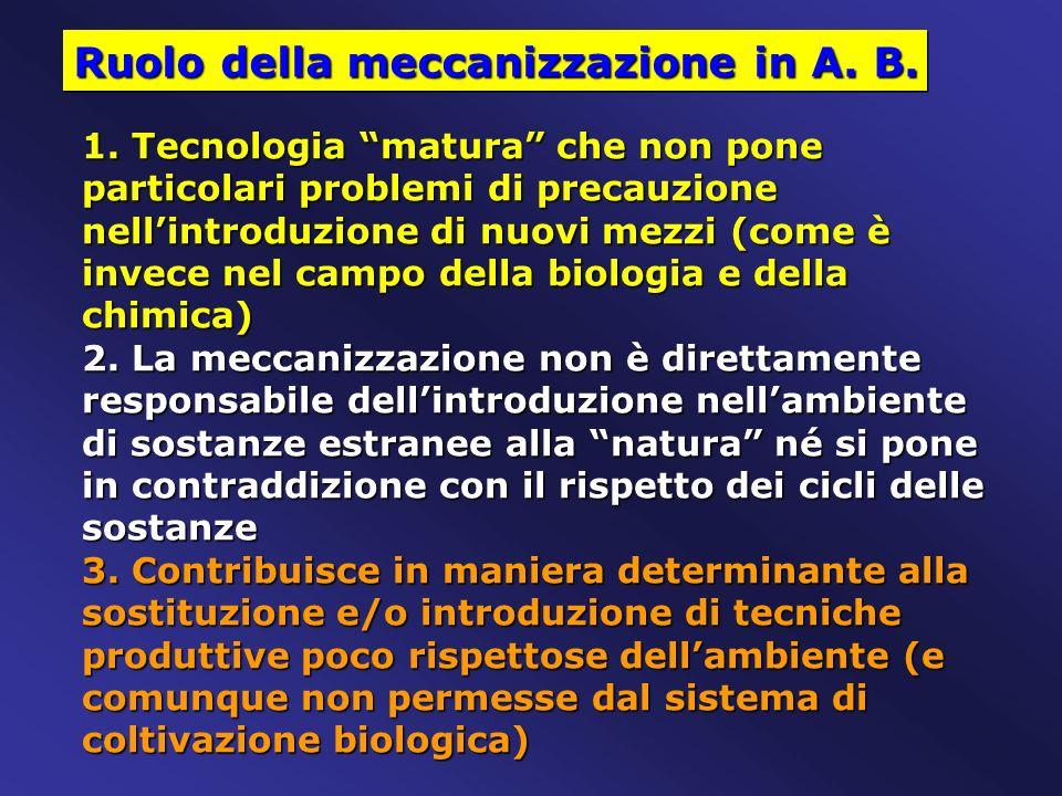 Ruolo della meccanizzazione in A. B.