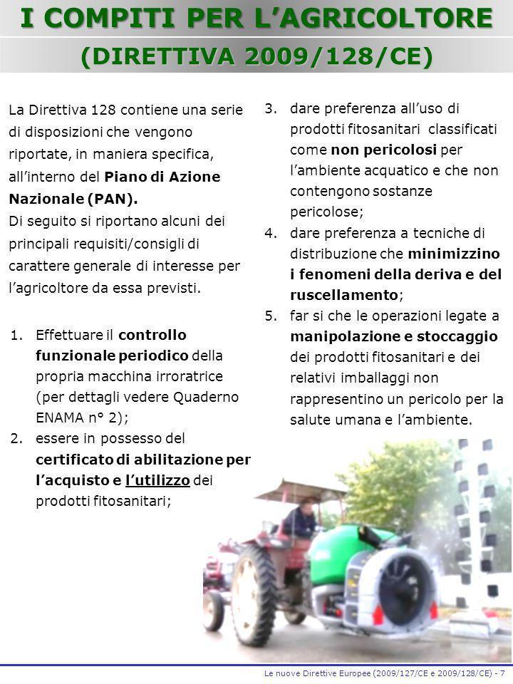 I COMPITI PER L'AGRICOLTORE