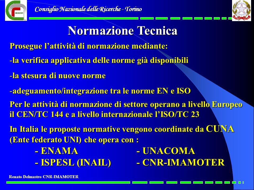 Normazione Tecnica - ISPESL (INAIL) - CNR-IMAMOTER