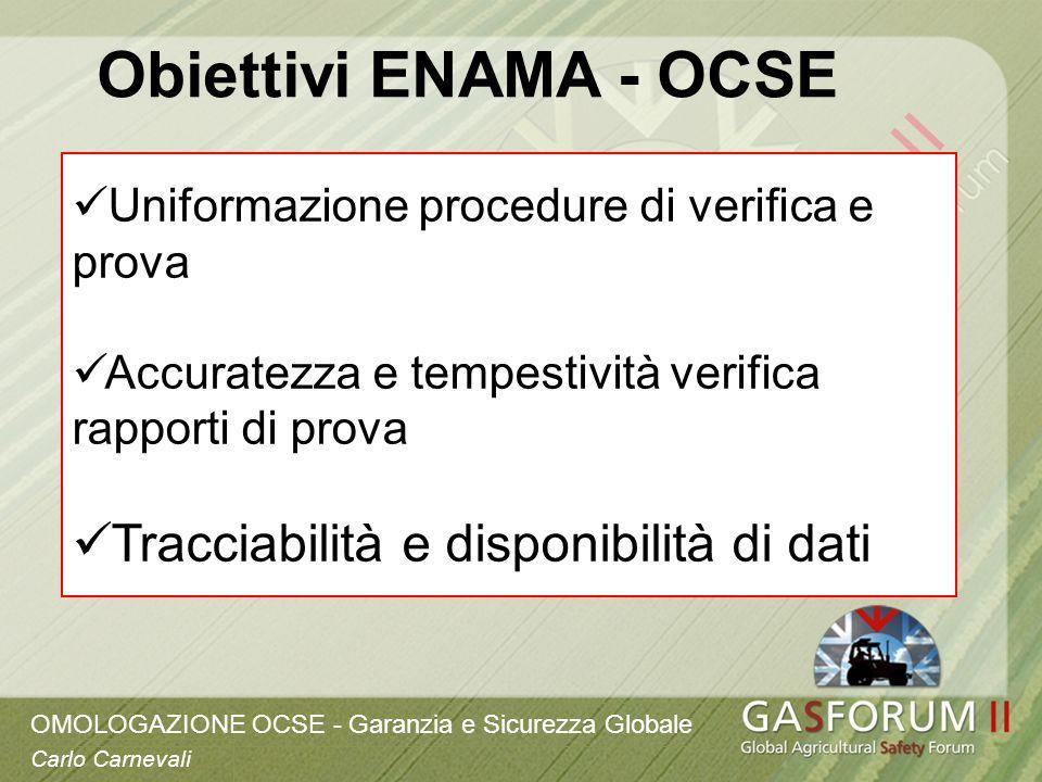 Obiettivi ENAMA - OCSE Tracciabilità e disponibilità di dati