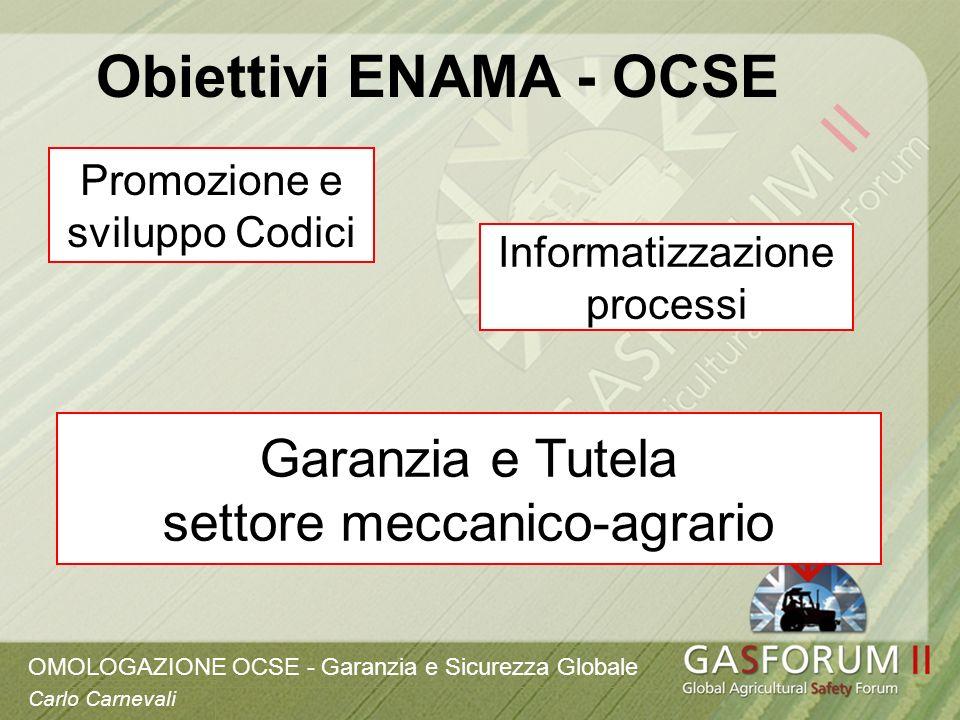 Obiettivi ENAMA - OCSE Garanzia e Tutela settore meccanico-agrario