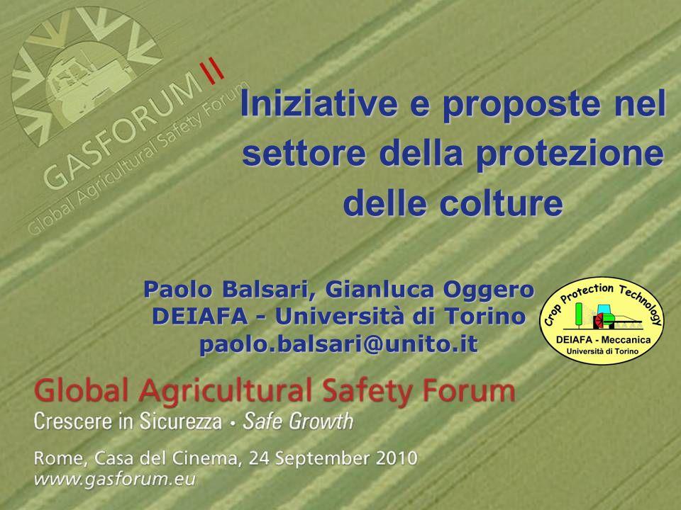 Iniziative e proposte nel settore della protezione delle colture