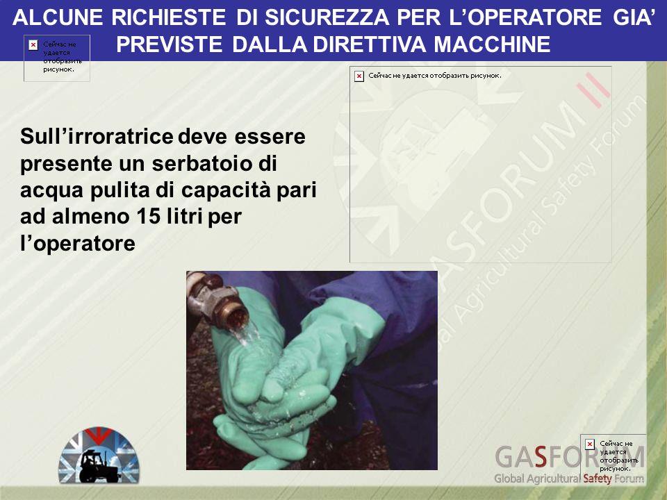 ALCUNE RICHIESTE DI SICUREZZA PER L'OPERATORE