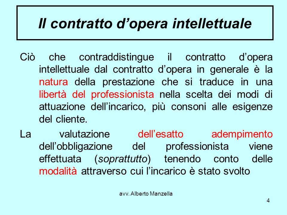Il contratto d'opera intellettuale
