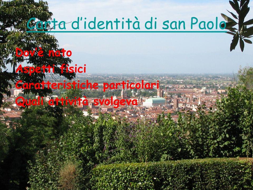 Carta d'identità di san Paolo