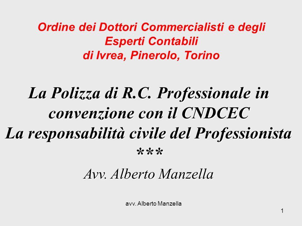 *** La Polizza di R.C. Professionale in convenzione con il CNDCEC