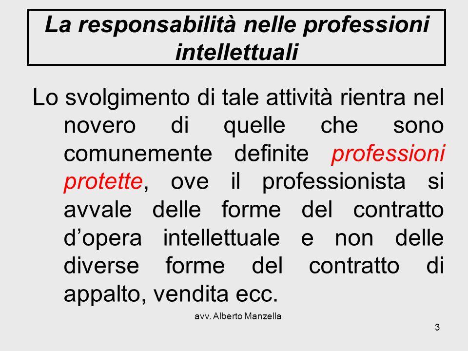La responsabilità nelle professioni intellettuali