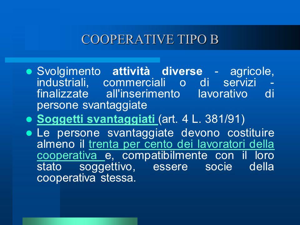 COOPERATIVE TIPO B