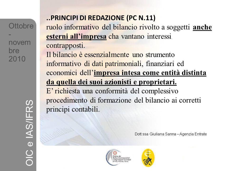 OIC e IAS/IFRS ..PRINCIPI DI REDAZIONE (PC N.11)